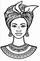 African Drawings Coloring Hilda Paintings Colouring sketch template