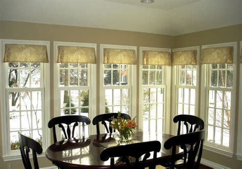 pleated valance traditional dining room detroit