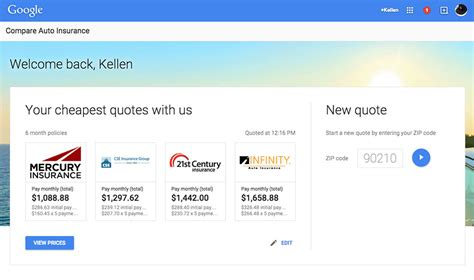 Google Introduces Car Insurance Comparison Tool