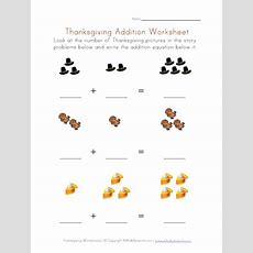 Thanksgiving Addition Worksheet
