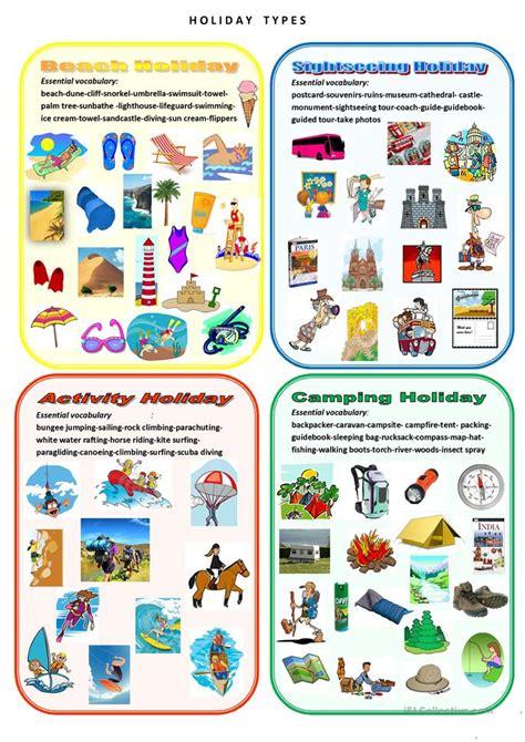 holiday types worksheet  esl printable worksheets