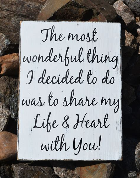 rustic wedding sign love quotes anniversary gift reception