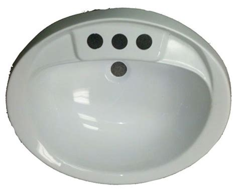 white plastic kitchen sinks 17 quot x 20 quot oval white plastic sink for mobile home 1449