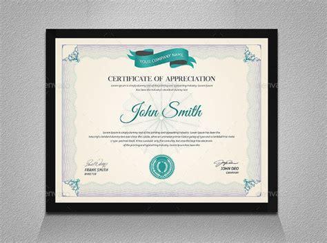 examples  certificate  appreciation