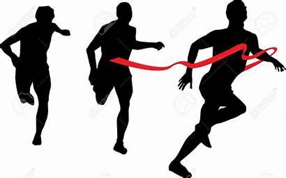 Runner Silhouette Running Clipart Race Ribbon Marathon