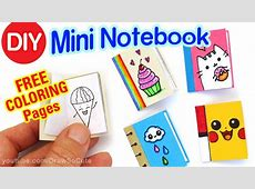 How to Make a Mini Notebook Easy Cute DIY Craft YouTube