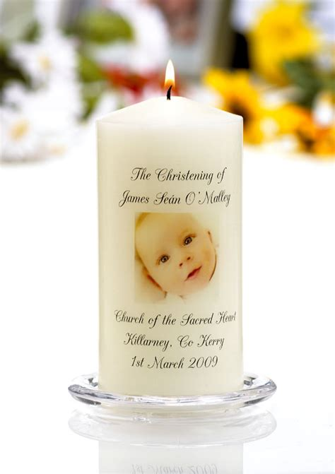 godmother gifts to baby personalised christening candles various designs