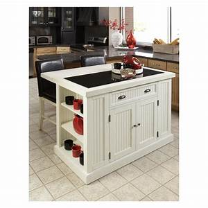 Trendy White Portable Island For Small Kitchen Combined L ...