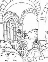 Rumpelstiltskin Coloring Pages Crying Daughter Miller Template sketch template