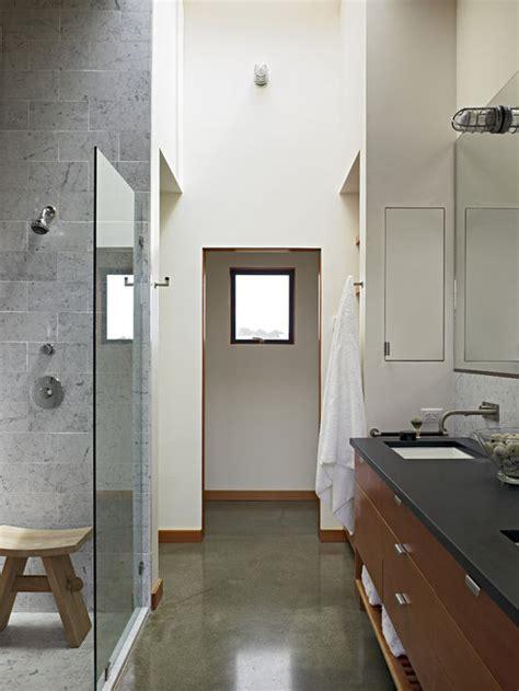 concrete bathroom floors houzz