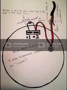 3 Wire Alternator Wiring Diagram And Resistor
