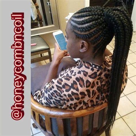extra long cornrow ponytail tastemakers crownkeeper
