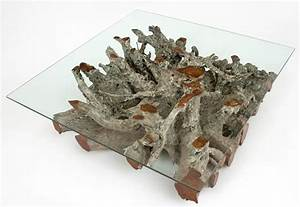 root coffee table natural wood organic style table With root coffee table with glass top