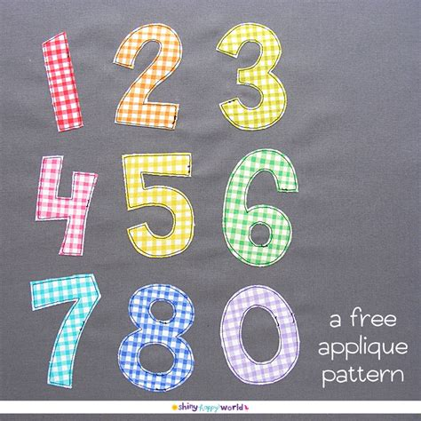 applique patterns free numbers applique pattern shiny happy world