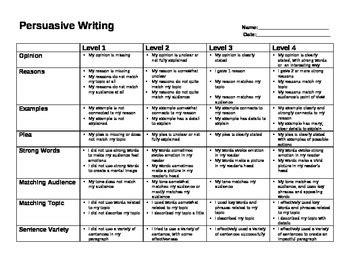 grade  persuasive writing rubric ontario  keris class