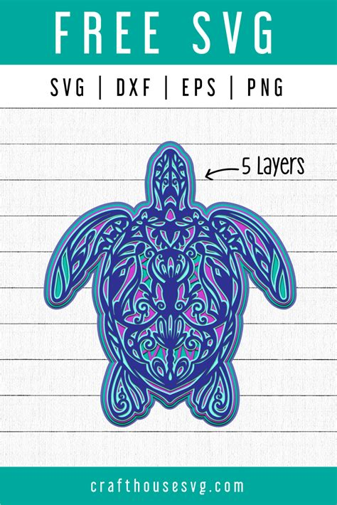 Feb 06, 2021 · 3d layered mandala heart with free svg for galentine's day or valentine's day feel free to share! FREE 3D Turtle Layered Mandala SVG | FB89 - Craft House SVG