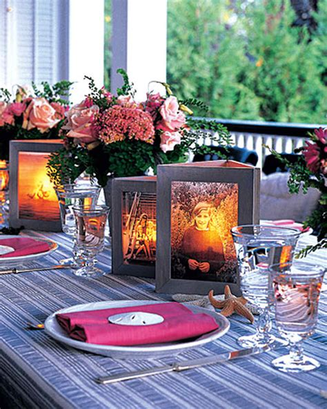 table centerpieces using photos photo centerpiece martha stewart