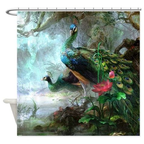 painting shower curtain beautiful peacock painting shower curtain by