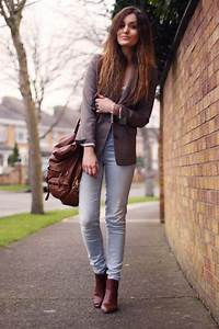 Blazer faded jeans and my brown ankle boots | Chelsea boots | Pinterest | Klamotten Herbst und ...