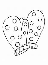 Coloring Mittens Pages Printable Mycoloring sketch template