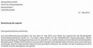 bewerbungsvorlage lagerist anschreiben 2018 With anschreiben lagerist
