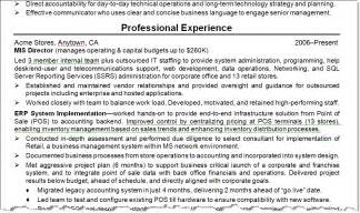 resume exles accomplishment statements results of our resume make techrepublic