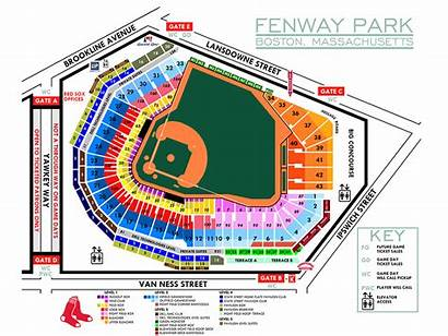 Seating Fenway Park Chart Map Sox Seat