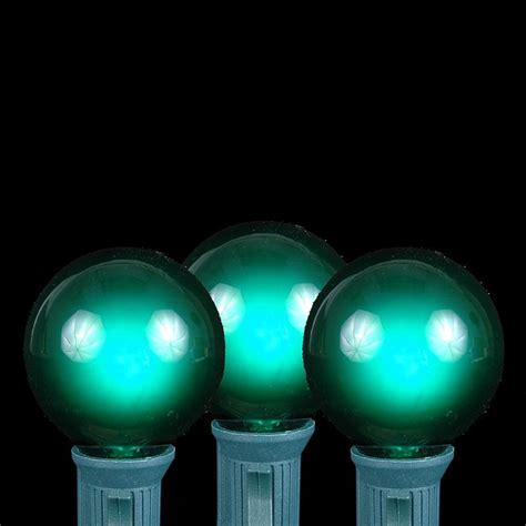 black light string lights green g40 globe outdoor string light set on black