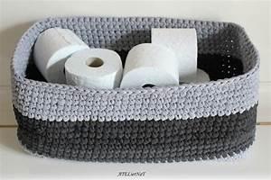 Corbeille Au Crochet : grand panier rectangle tricolore crochet ateliernat cr ations d co loisirs cr atifs ~ Preciouscoupons.com Idées de Décoration