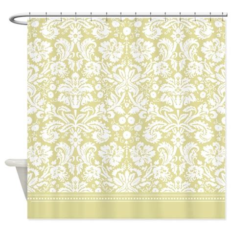 damask shower curtain gold damask shower curtain by inspirationzstore