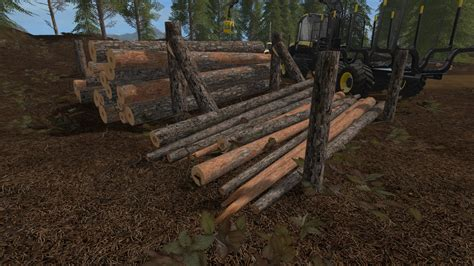 wooden support storage  ls  farming simulator