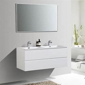 Meuble Vasque 120 : meuble de salle de bain double vasque alicia 120 cm ~ Nature-et-papiers.com Idées de Décoration