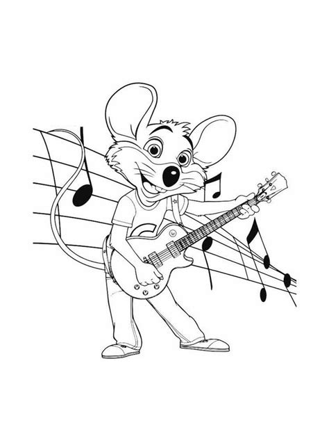 chuck  cheese coloring pages sheet   cartoon coloring pages chuck  cheese coloring pages
