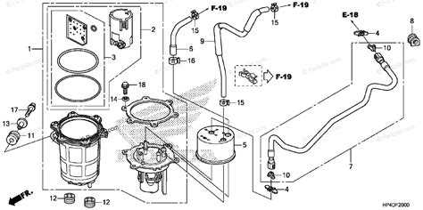 Honda Atv Oem Parts Diagram For Fuel Pump Partzilla