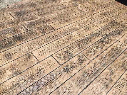 stamped concrete wood plank texture great plains concrete