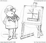Coloring Outline Measurements Easel Clipart Royalty Illustration Bannykh Alex Rf Template Pages 2021 sketch template