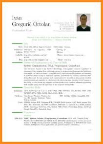 curriculum vitae sle pdf 8 download cv template pdf resume setups