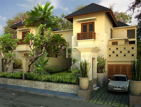 gambar desain rumah desain villa type  tropical mansion
