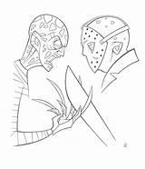 Freddy Jason Inkjava Deviantart Coloring Horror Ink Template Sketch sketch template