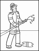 Coloring Firefighter Pages Printable sketch template
