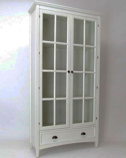 White Bookcases With Glass Doors by White Bookcase With Glass Doors In Bookcases