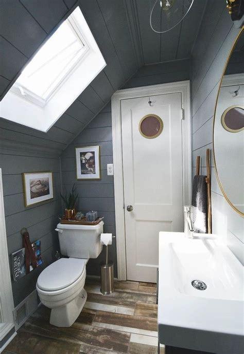 tiny attic bathroom   diy update hometalk