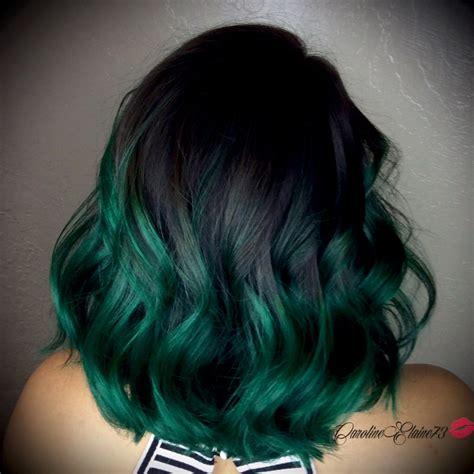 Emerald Green Ombré Hair Hair And Makeup Pinterest