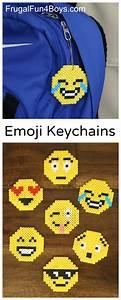 Emoji Perler Bead Keychains – Fun Craft for Kids!