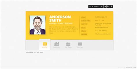 vcard template free best vcard themes 2018 for your resume