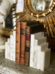 Pair, Of, Vintage, Marble, Bookends