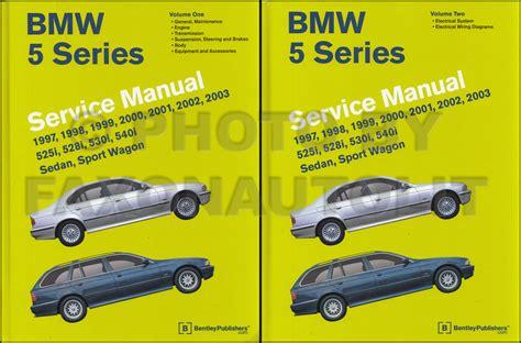1997-2003 Bmw 5 Series Bentley Repair Shop Manual 2 Volume Set
