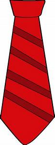 Striped Red Tie Clip Art - Striped Red Tie Image