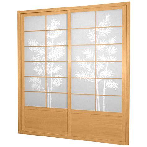 bamboo sliding doors 7 ft tall bamboo tree shoji sliding door kit ebay