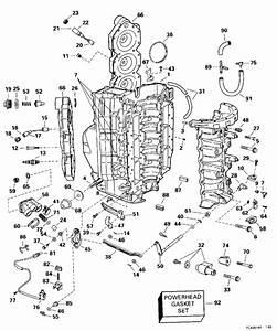 Johnson Cylinder  U0026 Crankcase Parts For 1996 150hp